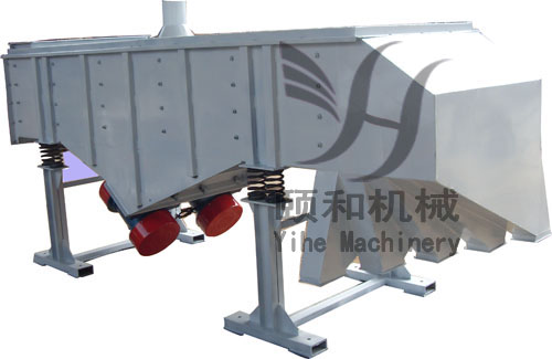 Straight line vibrating screen